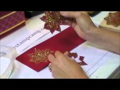 ▶ Joyful Christmas Heat & Stick with Gold Glitter - www.thestampcamp.com/blog/ - YouTube