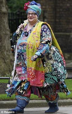 "Camila Batmanghelidy   ""it takes me probably 5 minutes to get dressed. I don't think about it at all... But the way I dress matches my psychological energy, so when I get up in the morning I think 'What colour do I want to wear today?' and I just bung it on really quickly and get out. I don't worry about what people think at all... And it's instantaneous - I instantly know what fabrics go together and what doesn't - and it's just instinctive"