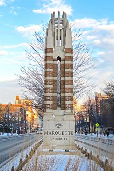 Wisconsin Avenue at Marquette University.