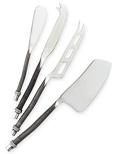 Danny Seo's set of stainless steel cheese knives will impress a frequent entertainer. #GoodHousekeeping #GiftIdeas #MyHoliday