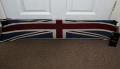 DOOR DRAUGHT TAPESTRY EXCLUDER QUALITY ZIPPED UNION JACK DESIGN