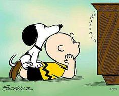 Charlie & Snoopy watch TV