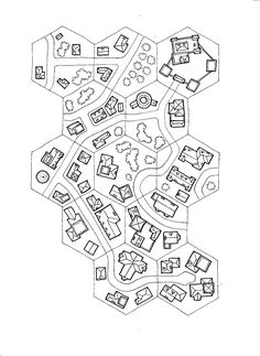 Observations of the Fox: A Guide to Geomorphs (Part Dungeon Tiles, Dungeon Maps, Hexagon Game, Hex Map, Cartographers Guild, Map Layout, Board Game Design, Paper Games, Fantasy Map