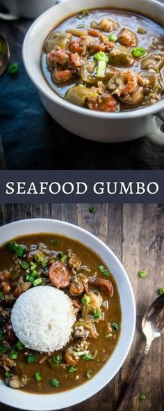 New Orleans Gumbo Recipe (Seafood Gumbo) This Louisiana Seafood Gumbo with Okra is packed full of seafood including shrimp, crawfish, oysters, crab and andouille sausage – plus it only takes 40 minutes to make! new orleans style gumbo Okra Recipes, Cajun Recipes, Gumbo Recipes, Best Gumbo Recipe, Gumbo Recipe With Okra, Crab Gumbo Recipe, Shrimp Recipes, Haitian Recipes, Gumbo Rue Recipe