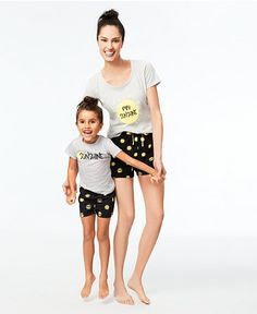 26.99$  Watch here - http://viiww.justgood.pw/vig/item.php?t=qxwi7056597 - Family Pajamas Mommy & Me Sunshine Top and Boxer Shorts Pajama Sets, Only at Macy's 26.99$