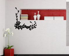 Wall Vinyl Sticker Decal Art Design Corner Floral Pattern Ornament with Lily Flower Room Home Interior Housewares Decor Hall Wall Chu1016 Thumbs up decals,http://www.amazon.com/dp/B00K1CPMNM/ref=cm_sw_r_pi_dp_.YSHtb0WGH91KS58