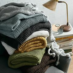 FINALLY bought this chunky knit throw (in slate) that I've been wanting for months. SALE!! Yippee