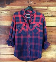 I seriously need to add this to my flannel collection - ERIN - RED/NAVY OMBRE - Rails - Los Angeles, CA