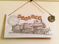 Handmade plaque for Grandad /Dad by EveAmberLay on Etsy https://www.etsy.com/uk/listing/294426221/handmade-plaque-for-grandad-dad