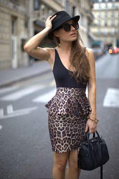 Leopard peplum
