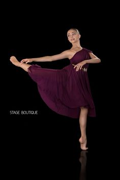 LYRICAL DRESS - POLISHED, $69, Plum Slow Modern Dance Costume, Stage Boutique, www.stageboutique.com
