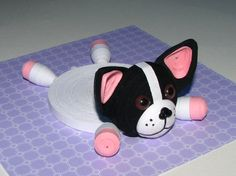 Coasters for drinks French Bulldog Dog Stand for by QuillingLife
