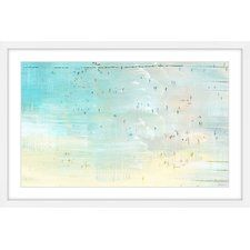 Distant Beachgoers' by Parvez Taj Framed Painting Print