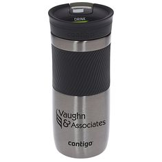 Keep your brand moving with this custom Contigo® tumbler! 24 Hour Service, Client Gifts, Custom Tumblers, Drinkware, Biodegradable Products, Vacuums, Mugs, Drinks, Drinking