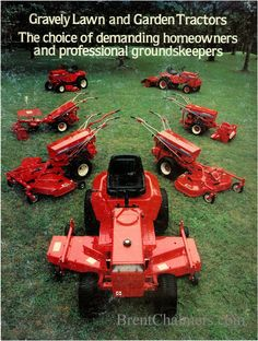 Gravely Mowers 232990980693849182 - 1981 Gravely Lawn and Garden Tractor Sales Brochure Source by gravelyusa Yard Tractors, Tractors For Sale, Tractor Mower, Small Tractors, Ryobi Lawn Mower, Push Lawn Mower, Landscaping Equipment, Garden Equipment