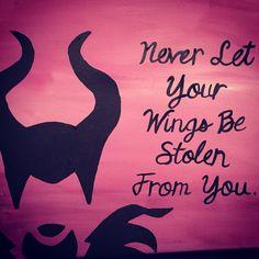 Malificent canvas quote