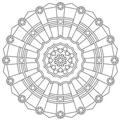 Free printable mandala coloring pages. Or use them as patterns for hand made stepping stones.