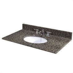 "37"" Granite Vanity Top with Sink 