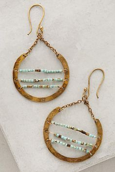 Turquoise Ladder Hoops - anthropologie.com