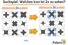 Kostenloser Download des Quizspieles: Welches Icon ist 2x zu sehen?