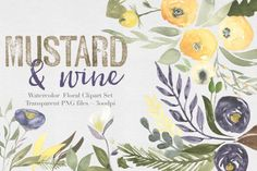 Graphic Design - Graphic Design Ideas  - Mustard & wine Floral Clipart Set by The Autumn Rabbit on Creative Market   Graphic Design Ideas :     – Picture :     – Description  Mustard & wine Floral Clipart Set by The Autumn Rabbit on Creative Market  -Read More –