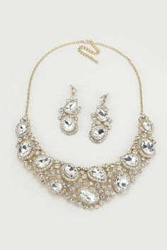 Crystal Marie Anne Necklace in Gold on Emma Stine Limited