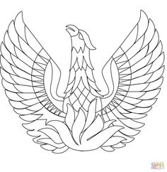 Wonderful Picture of Phoenix Coloring Page . Phoenix Coloring Page Phoenix Bird Coloring Page Free Printable Coloring Pages Bird Coloring Pages, Adult Coloring Book Pages, Free Printable Coloring Pages, Coloring Books, Pictures Of Phoenix, Phoenix Drawing, Phoenix Tattoo Design, Picture Engraving, Phoenix Bird