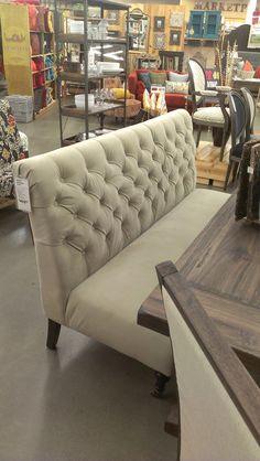 Tov Furniture Halifax Banquette Bench Cream Leather