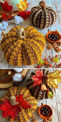 Quick Roundup – Crochet Pumpkins Crochet Mask, Crochet Gifts, Crochet Toys, Free Crochet, Crochet Pumpkin Pattern, Halloween Crochet Patterns, Fall Pumpkin Crafts, Thanksgiving Crafts, Art Du Fil