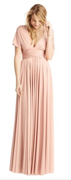 Maid of honour - classic ball gown in blush from two birds uk