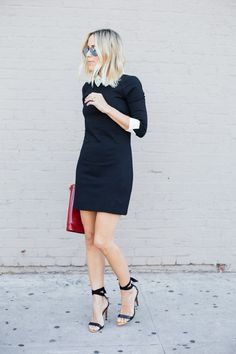 Ted Baker Embellished Collar Dress and Ankle Tie Heels