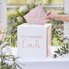 Rose Gold Wedding Post Box, Wedding Cards Box, Wedding Decorations, Rose Gold Wedding Card Holder, R Wedding Card Post Box, Wedding Boxes, Wedding Guest Book, Wedding Cards, Our Wedding, Green Wedding, Wedding Invitations, Wedding Signs, Wedding Stationery