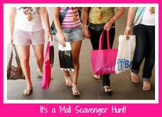 Find lots of ideas to help you plan a mall scavenger hunt party, including some printable lists you can use.