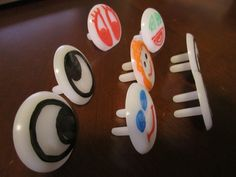 Easy DIY Play-Dough Accessories made from outlet plugs