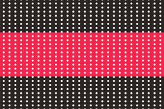 Poá vermelho e preto