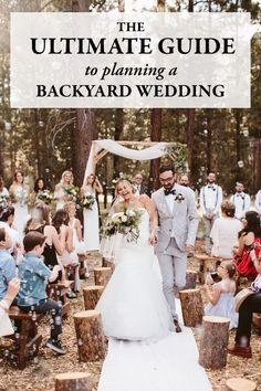 This guide provides logistics advice, space planning tips, and decor inspiration to help you create the backyard wedding of your dreams. This guide provides logistics advice, space planning tips, and decor inspiration to help Home Wedding, Budget Wedding, Plan Your Wedding, Wedding Tips, Wedding Events, Wedding Day, Spring Wedding, Dream Wedding, Wedding Punch