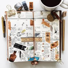 | a look back • week 47 | #liveauthentic #livefolk #nothingisordinary #onthetable #coffeetime #coffee #midoritravelersnotebook #midori #travelersnotebook #travelersnote #zakka #travelersfactory #journal #planner #stamps #plannernerd #plannerlove #stationery #washitape #stationerylove #scrapbooking #papercraft #typography #handwriting #vsco #vscocam