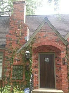 Elegant Vertical House Number For A Home With A Red Brick Chimney And Sage  Green Trim, By Nutmeg Designs.