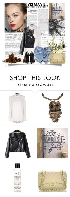 """We have the vision, now let's have some fun"" by johaae ❤ liked on Polyvore featuring Bela, The Row, Runwaydreamz, philosophy, Vosges, Alexander McQueen, WALL, denim shorts, high-waisted shorts and straw bags"