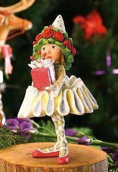 Patience Brewster Krinkles Dash Away Dancer Gift Reindeer Elf Christmas Ornament | eBay