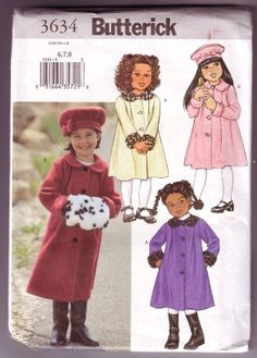 Children's Coat, Hat and Muff Pattern by Butterick, http://www.amazon.com/dp/B008QIWNJO/ref=cm_sw_r_pi_dp_-XXrsb0QKHP46