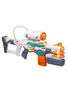 """Nerf Modulus Tri-Strike Asks, Why Just Shoot One Thing When You Could Fire ALL OF THE THINGS? The more we play with an ever-advancing array of Nerf weaponry, the less compelled we feel to turn to hours on end playing """"Overwatch"""" and """"Doom. Nerf Mod, Toys R Us, Kids Toys, Nerf Snipers, Arma Nerf, Cool Nerf Guns, Nerf Darts, Unusual Gifts, Cool Toys"""