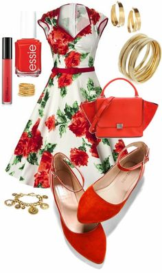 Rose Swing Dress Outfit would be perfect on the cruise or dinner out before the cruise.