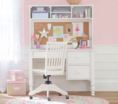 School-aged kids work hard, and so does this desk. Two roomy storage drawers hold supplies, and an organized hutch keeps clutter at bay.