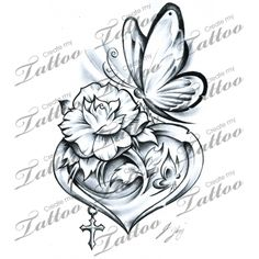 Here at Create My Tattoo, we specialize in giving you the very best tattoo ideas and designs for men and women. We host over unique designs made by our artists over the last 8 y Tattoos Skull, Rose Tattoos, Flower Tattoos, Body Art Tattoos, New Tattoos, Small Tattoos, Tatoos, Rose And Butterfly Tattoo, Butterfly Tattoos For Women