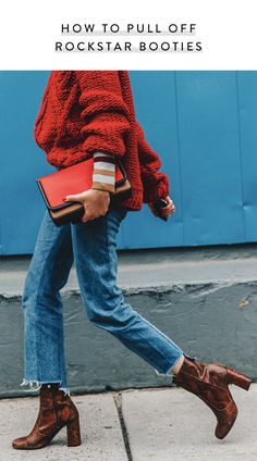 Here's How to Pull Off Those Trendy Rock-Star Booties via @PureWow