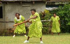 Ifira island's Female cricket team in Vanuatu