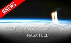 """NASA: Vídeo Mostra UFO irradiando Luz na Terra """"Antes de Cortes de Transmissão"""""""