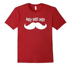 Men's HoHoHo Santa Claus T-Shirt. Christmas T-Shirt. X-Mas T-Shirt 3XL Cranberry