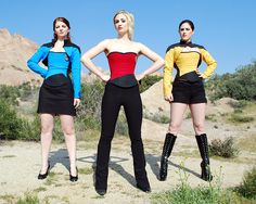 I want one more than life. (In blue or red, with the bolero.) Trekkie Inspired Corset by Evening Arwen